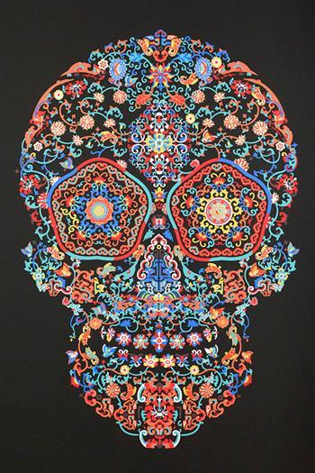 Jacky Tsai - Cloisonné Skull