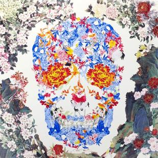 Jacky Tsai - Chinese Floral Skull