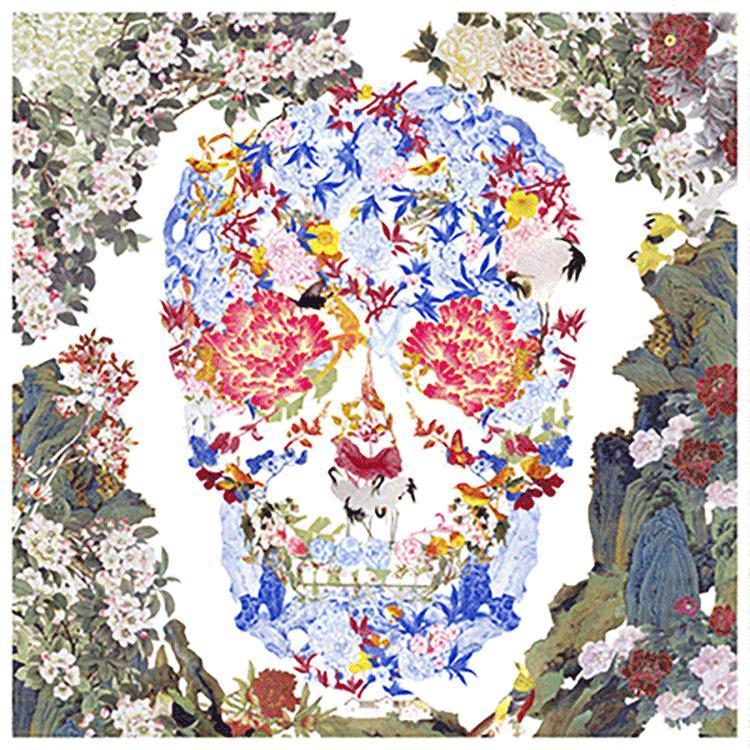 Jacky Tsai - Chinese Floral Skull Lenticular