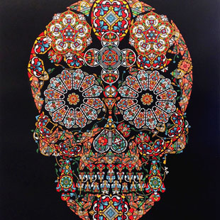 Jacky Tsai - Stained Glass Skull