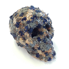 Jacky Tsai - Life Sized Floral Skullpture 8