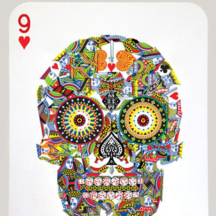 Jacky Tsai - Poker Skull (Nine of Hearts)