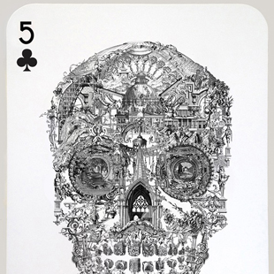 Jacky Tsai - Sanctuary Skull (Five of Clubs)