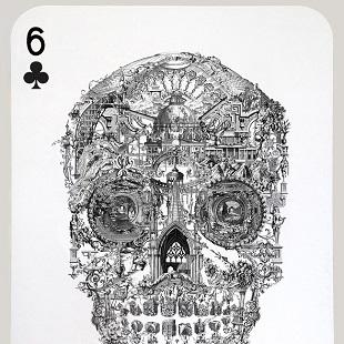 Jacky Tsai - Sanctuary Skull (Six of Clubs)