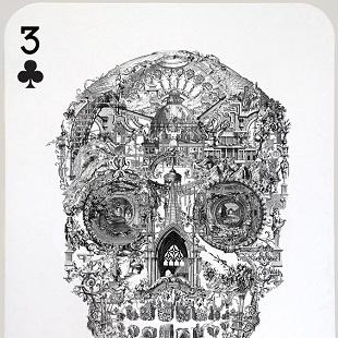 Jacky Tsai - Sanctuary Skull (Three of Clubs)
