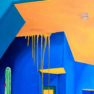 Jonathan Purday - Majourelle Noon Study in Yellow and Blue 2