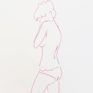 Lucie Bennett - Pink Drawing