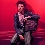 Mick Rock - Bowie with Hunky Dory Cover 1972