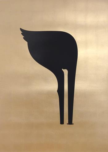 Noma Bar - Facing Up (Gold Leaf)