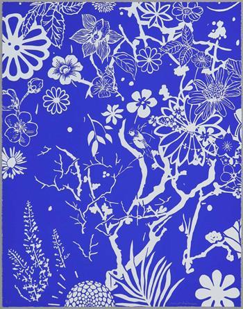 Dan Baldwin - Imaginary Paradise (Artist Proof, Blue-Off White)