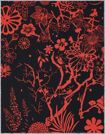 Dan Baldwin - Imaginary Paradise (Artist Proof, Red-Black)