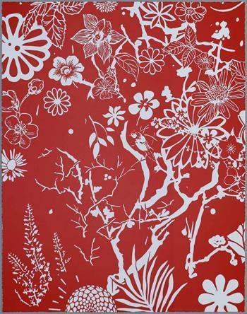 Dan Baldwin - Imaginary Paradise (Artist Proof, Red-White)